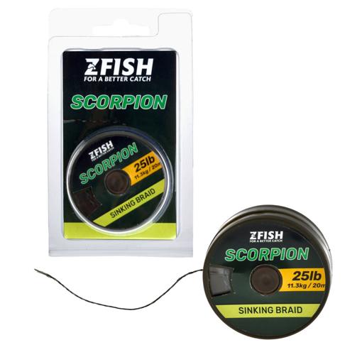 Zfish Scorpion Sinking Braid 20m 25lb